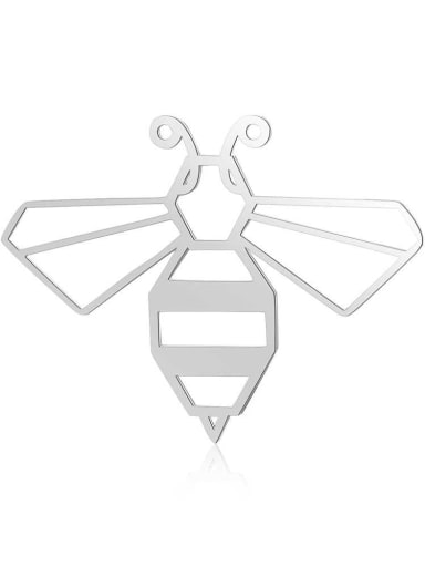 Stainless steel bee gold plated Charm Height : 40 mm , Width: 29 mm