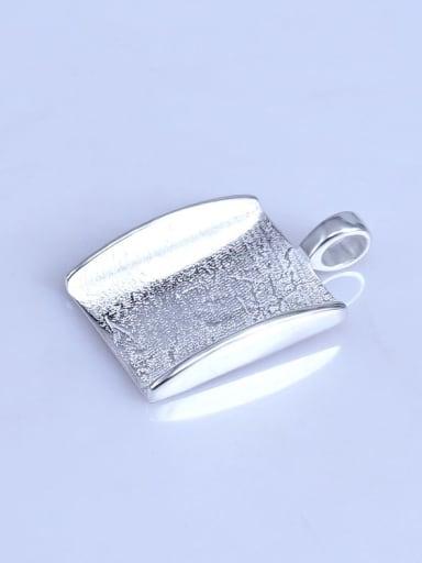 925 Sterling Silver Rhodium Plated Geometric Pendant Setting Stone size: 15*22mm