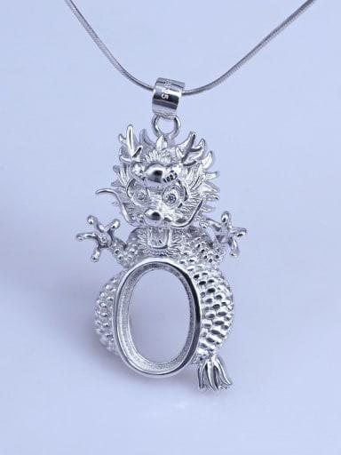 Long  (10*14) 925 Sterling Silver Zodiac Pendant Setting Stone size: 8*10 9*11 10*14mm