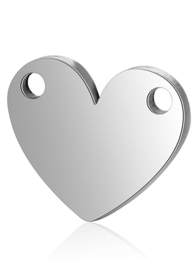 Stainless steel Heart Charm Height : 12.8 mm , Width: 10.8mm