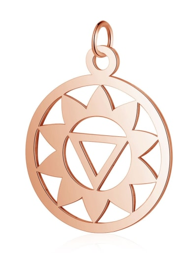 T527R Stainless steel Geometric Charm Height : 19 mm , Width: 26 mm