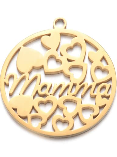 Stainless steel Gold Plated Message Charm Diameter : 20 mm