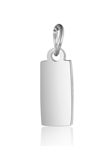 XT634 1 Stainless steel Charm Height : 4 mm , Width: 13 mm