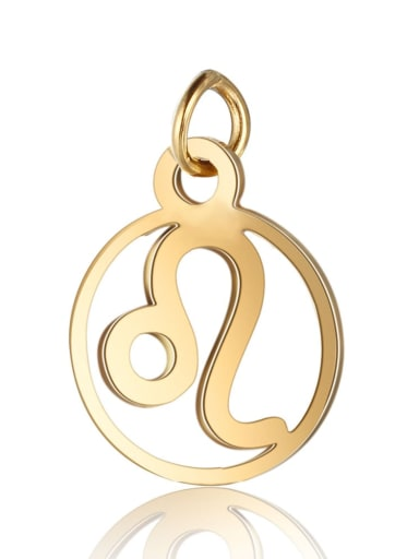 T513 5 Stainless steel Gold Plated Constellation Charm Height : 11 mm , Width: 16 mm