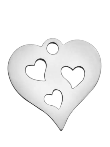 Stainless steel Heart Charm Height : 14.9 mm , Width: 14.7 mm