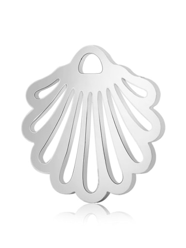 Stainless steel shell Charm Height : 13.1 mm , Width: 14 mm