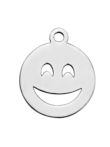Stainless steel Face Charm Height : 14 mm , Width: 12 mm