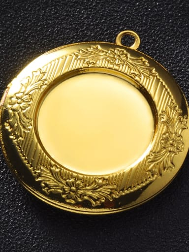 golden Copper Round Charm Height :  32.5mm , Width:35.7 mm