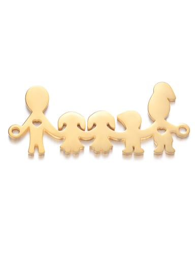 14*35mm Stainless steel Gold Plated Charm