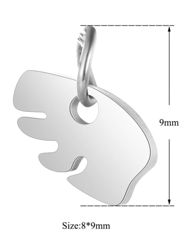 Stainless steel Bear Charm Height : 8 mm , Width: 9 mm