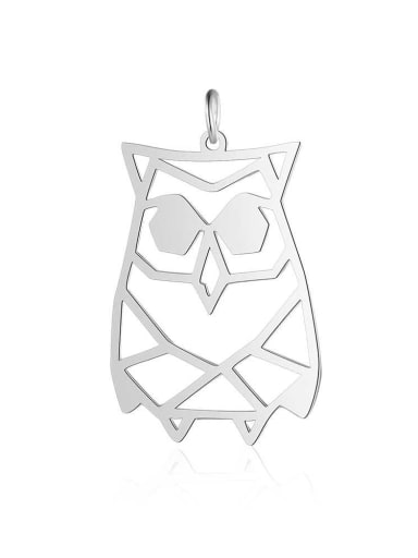 JA129 1x5 Stainless steel Gold Plated Owl Charm Height :21 mm , Width:  34mm