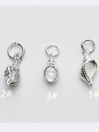925 Sterling Silver Ball Conch Charm