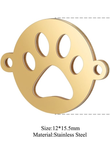 XT538G Stainless steel Face Charm Height : 12 mm , Width: 15.5 mm