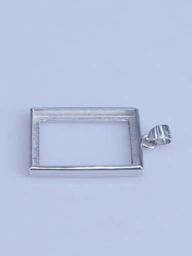 925 Sterling Silver Geometric Pendant Setting Stone size: 16*22mm