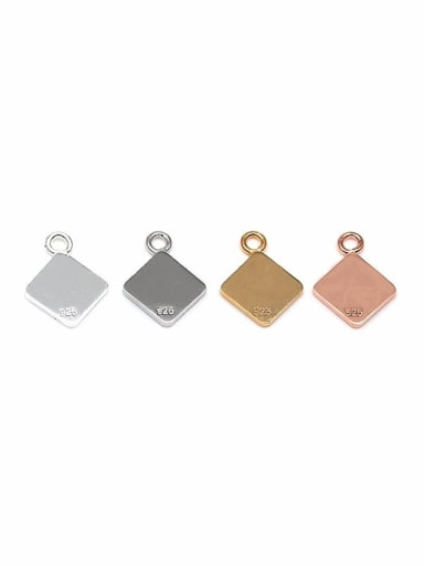 925 Sterling Silver Chain tag , Hole Size : 1.2 MM