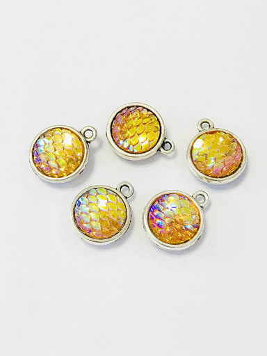 4 Zinc Alloy Multicolor Key Charm Diameter : 12mm
