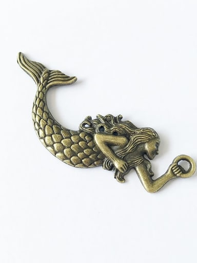 Ancient green Alloy Fish Charm Height : 7.6cm , Width: 3cm