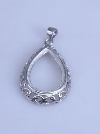 925 Sterling Silver Water Drop Pendant Setting Stone size: 14*20mm