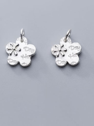 925 Sterling Silver Flower Charm Height : 13.5 mm , Width: 13.5 mm