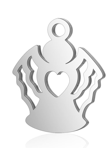 Stainless steel Angel Charm Height : 12 mm , Width: 14.3 mm