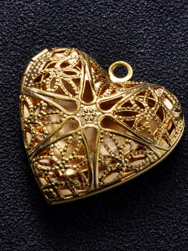 golden Copper Heart Charm Height : 25.5mm , Width: 26mm