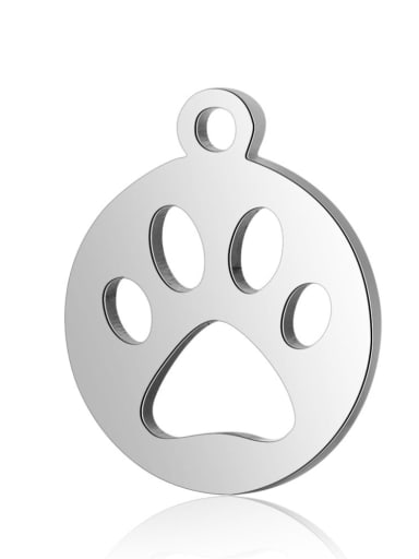 Stainless steel Charm Height : 14 mm , Width: 12 mm