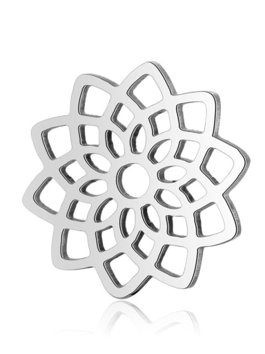 Stainless steel Flower Charm Height : 15.8 mm , Width: 15.8 mm