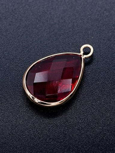 JA167 5x3 Copper Crystal Water Drop Charm Height : 17 mm , Width: 9 mm