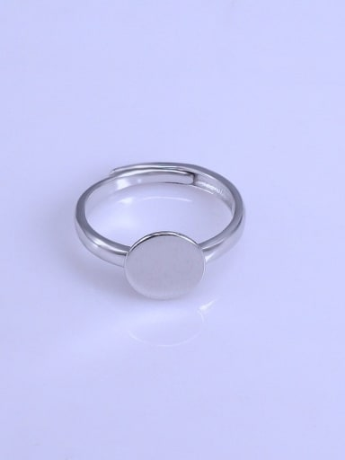 925 Sterling Silver 18K White Gold Plated Round Ring Setting Stone diameter: 10mm