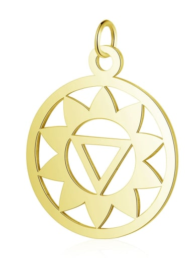 T527G Stainless steel Geometric Charm Height : 19 mm , Width: 26 mm