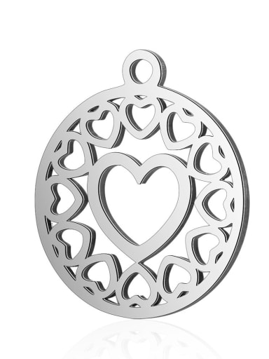 Stainless steel Heart Charm Height : 16 mm , Width: 20 mm