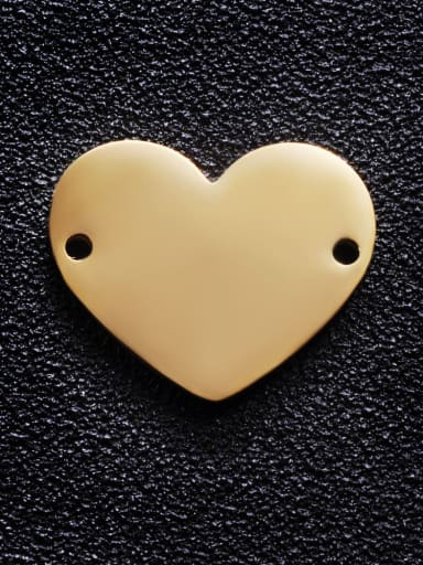 golden Stainless steel Heart Charm Height : 17 mm , Width: 20 mm
