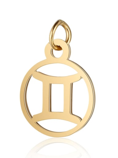 T513 3 Stainless steel Gold Plated Constellation Charm Height : 11 mm , Width: 16 mm