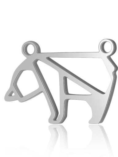 X T576D 1 Stainless steel Bear Charm Height : 21 mm , Width: 11 mm