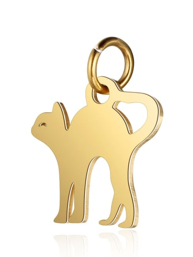 T465G Stainless steel Cat Charm Height : 12 mm , Width: 16 mm