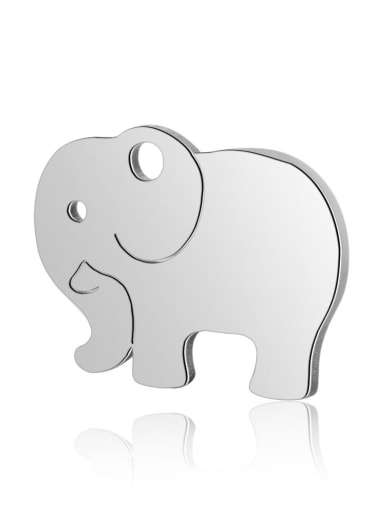 Stainless steel Elephant Charm Height : 13.9mm , Width: 10.7 mm