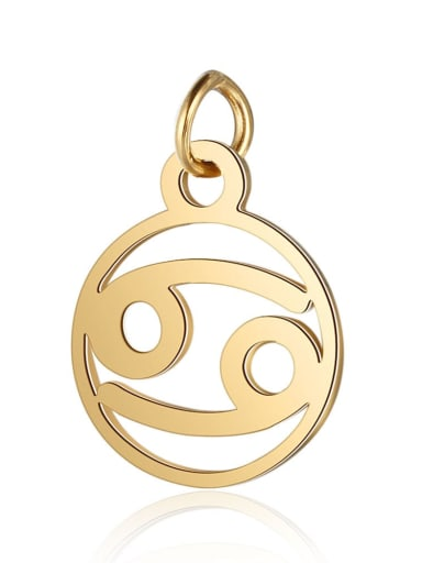 T513 4 Stainless steel Gold Plated Constellation Charm Height : 11 mm , Width: 16 mm