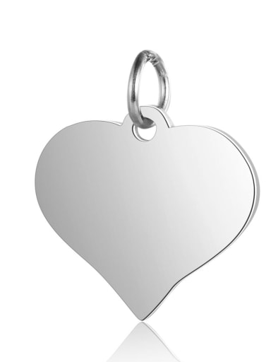 Stainless steel Heart Charm Height : 15 mm , Width: 17 mm