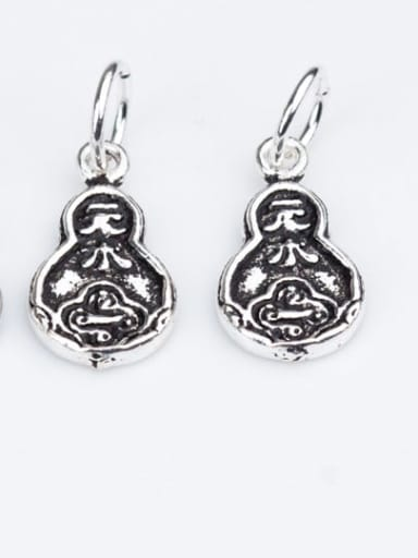 925 Sterling Silver Gourd Charm Height : 16 mm , Width: 8.5 mm
