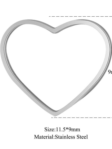 11.5-1 11.5*9mm Stainless steel Heart Charm
