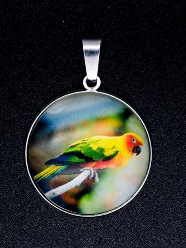 Multicolor Millefiori Glass Bird Charm Height : 38 mm , Width: 26.5 mm