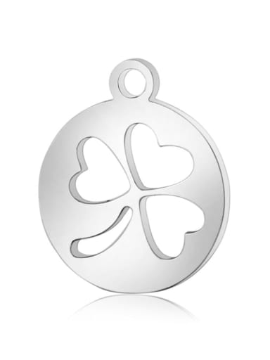 Stainless steel Clover Charm Height : 14 mm , Width: 12 mm