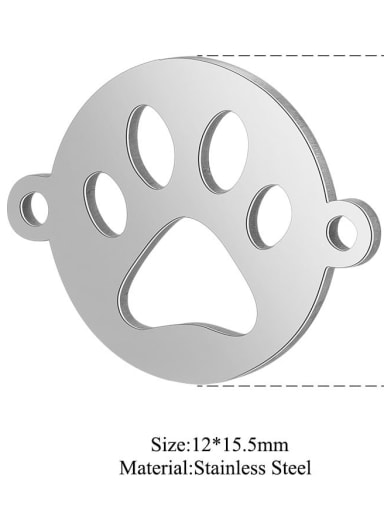 XT538S Stainless steel Face Charm Height : 12 mm , Width: 15.5 mm