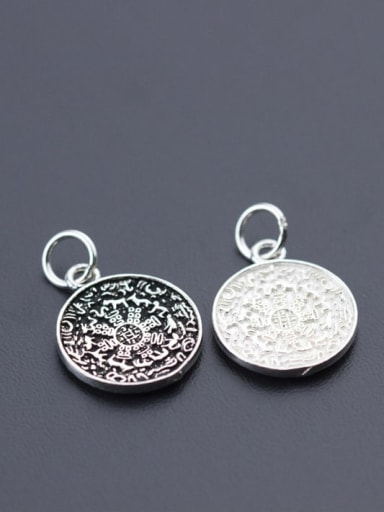 925 sterling silver charm 17*14*1.8 mm