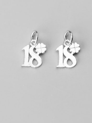 925 Sterling Silver Clover NumberCharm Height : 12 mm , Width: 11 mm