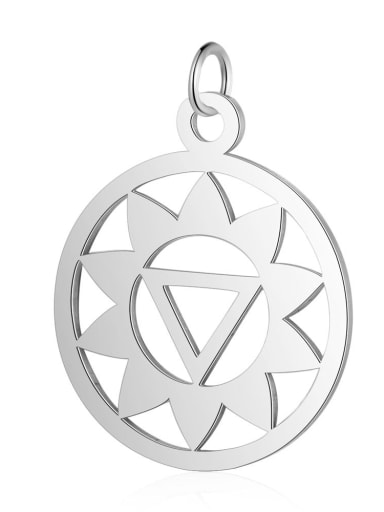 T527S Stainless steel Geometric Charm Height : 19 mm , Width: 26 mm