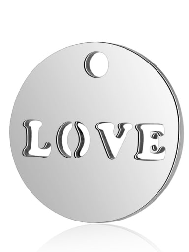 Stainless steel Message Charm Diameter : 12mm