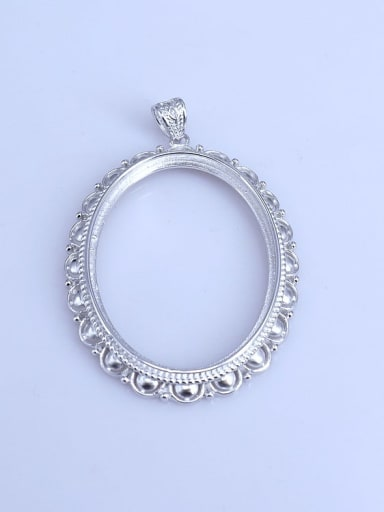 925 Sterling Silver Round Pendant Setting Stone size: 30*39m