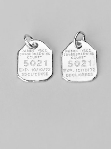 925 Sterling Silver Number Charm Height : 16 mm , Width: 13 mm