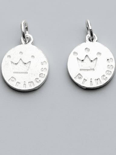 925 Sterling Silver Crown Charm Height : 15.5mm , Width: 13 mm